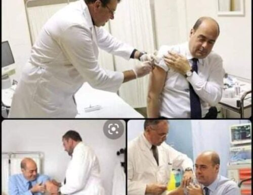 La testa! Quando hai tanti impegni le cose le dimentichi… E allora vaccini a go go. Presidente Zingaretti, ma è sicuro che è sempre acqua fresca? Occhio!